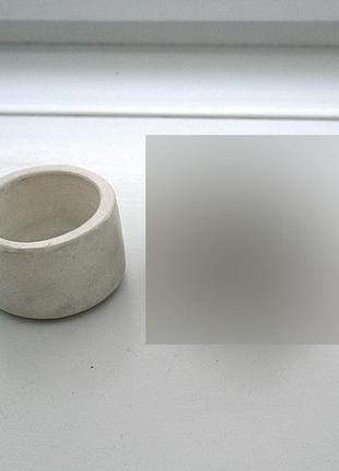 Cахарница из бетона. бетон. белая