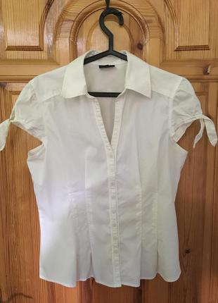 Милая белая рубашка с коротким рукавом next