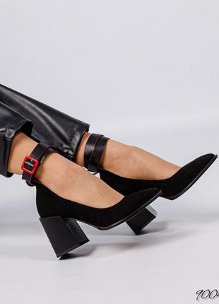 Элитная коллекция!  стильные туфли с ремешком  натуральная итальянская замша7 фото
