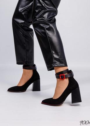 Элитная коллекция!  стильные туфли с ремешком  натуральная итальянская замша