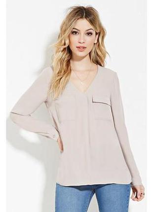 Базовая рубашка блуза с карманами