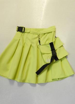 Мини юбка с карманом