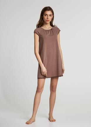 Рубашка ночная женская ellen 077/007 с коротким рукавом