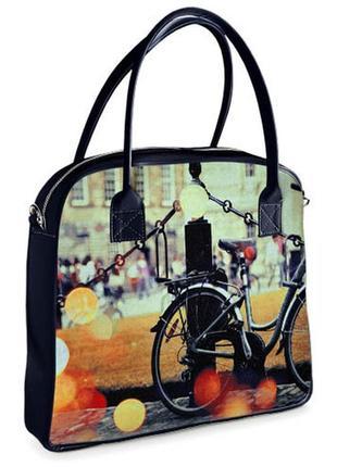 Сумка с принтом oxford велосипед женский (oxf_16s056_tsi)