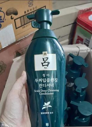 Лечебный кондиционер-ополаскиватель для жирных волос ryo (корея), 500мл