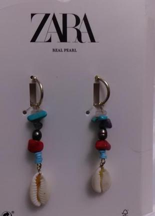 Невесомые сережки zara