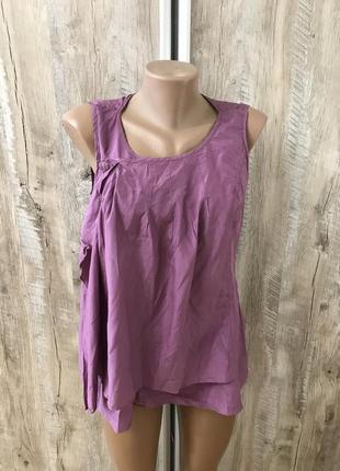 Шелковая блуза блузка майка футболка sisley италия натуральный шёлк