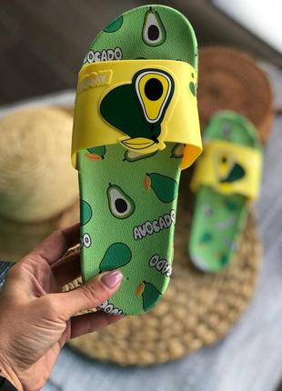 Сланцы тапочки шлёпанцы женские авокадо