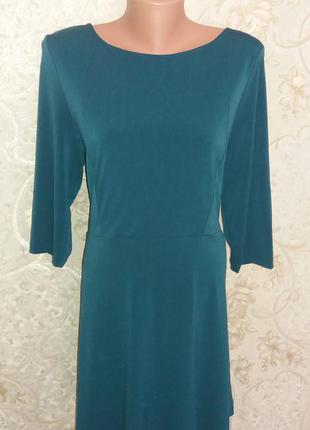 Платье mango изумрудного цвета с открытой спиной размер xl