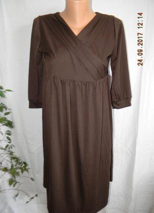 Новое осеннее платье на запах для беременных pink pixie