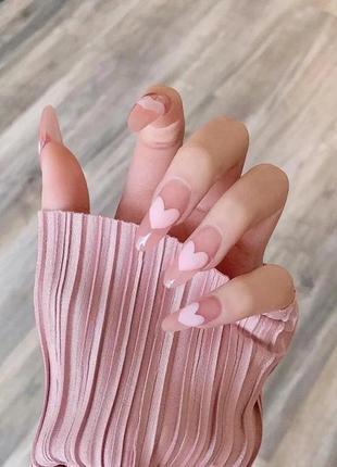 Нежные накладные ногти 10 шт.