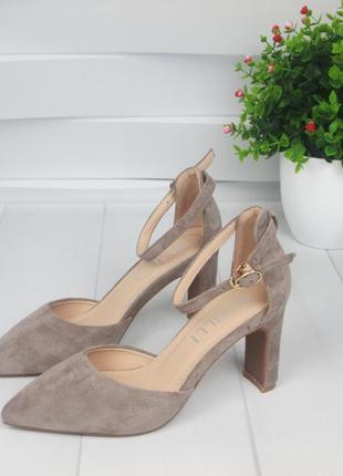 Женские замшевые летние туфли