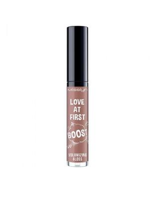 Блеск для объёма губ misslyn love at first boost volumizing gloss 18 glossing me softly