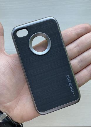 Чехол противоударный черный чохол на для айфон iphone 4 силиконовый