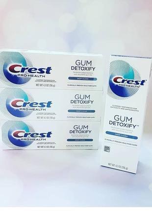 Зубная паста crest gum detoxify deep clean 116г