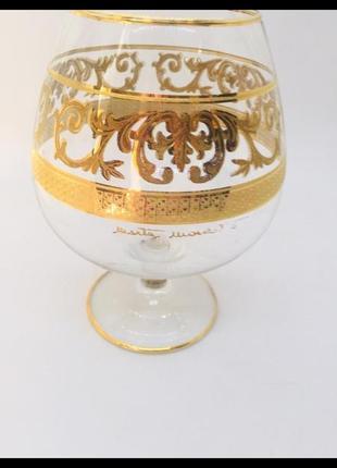 Брендовый бокал раритет покрытие золото 24 к вручную