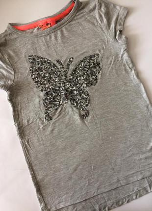 Красивая футболка на девочку next, 5 лет