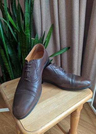 Мужские туфли zara натуральная кожа