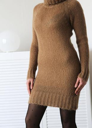 Теплое платье-туника,прямого кроя, по фигуре, zara spain, р.xs-s-m