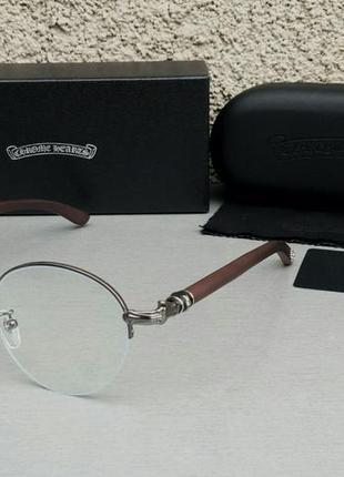 Chrome hearts очки имиджевые оправа для очков унисекс с деревянными дужками