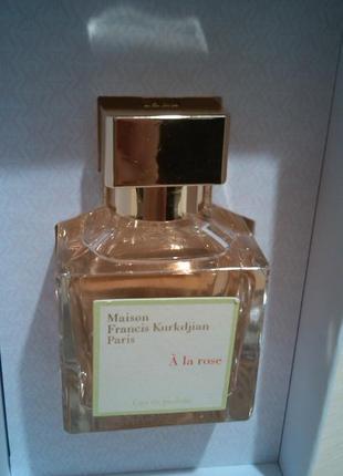 Maison francis kurkdjian à la rose парфюмированная вода 70 мл