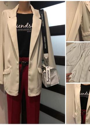 Тончайший лёгкий нюдовый пиджак жакет кардиган накидка