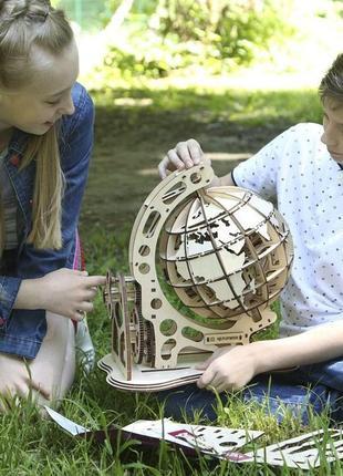 Супер деревянный конструктор глобус ( 3d пазл)