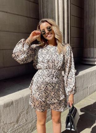 Zara мини платье с принтом