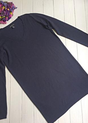 Темно синее трикотажное платье mango