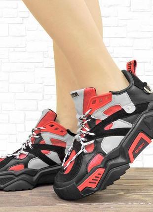 Женские кроссовки red черные