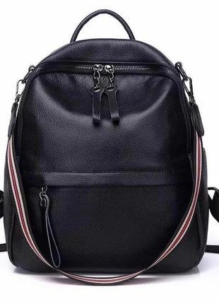 Кожаный рюкзак городской среднего размера