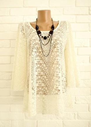 Очень красивая блуза из гипюра river island uk14 состояние новой