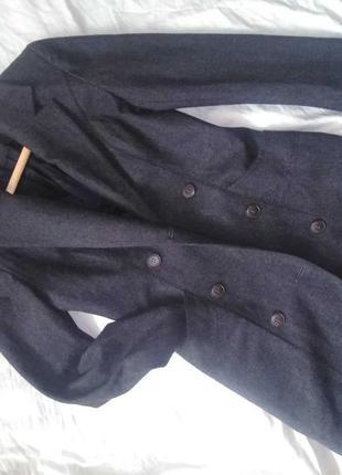 Пальто двубортное длинное