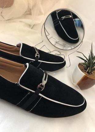Замшевые мужские туфли, мокасины