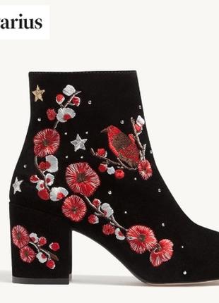 Кожаные ботиночки stradivarius. размер 39