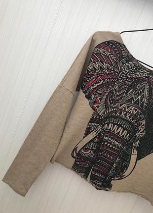 Классный свитшот, кофта со слоном