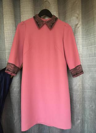 Дизайнерское розовое платье