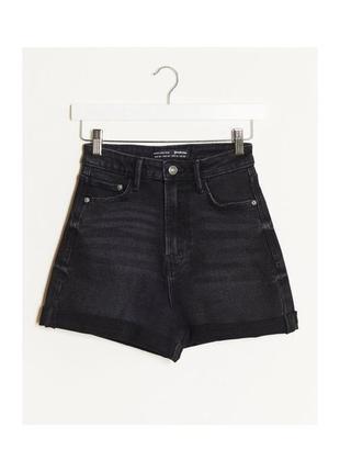 Новые с биркой джинсовые шорты stradivarius,крутые шорты mom fit,шорты с высокой посадкой