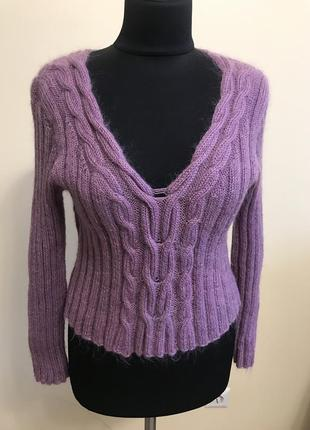 Пуловер махеровый