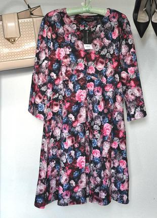 Шикарное платье в цветочный принт на l-xl