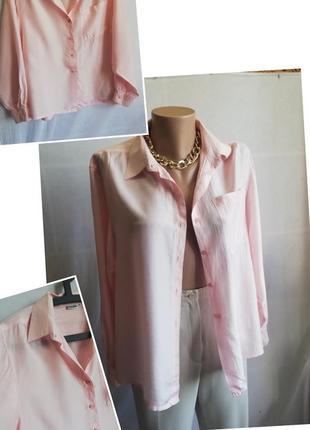 Шелковая блуза. розовая рубашка. 100%silk