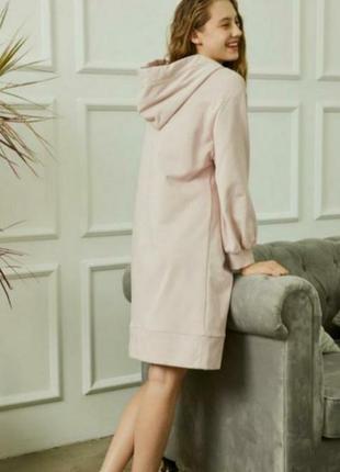 Пудровое платье толстовка для дома vero moda3 фото