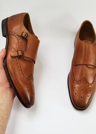 Мужские туфли монки на две пряжки