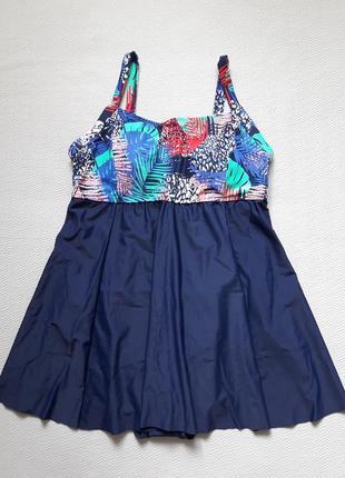 Мегакрутой слитный купальник платье большого размера george