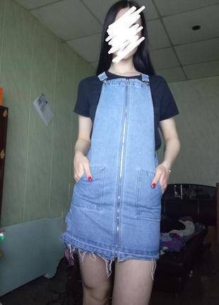Продам крутое джинсовое платье