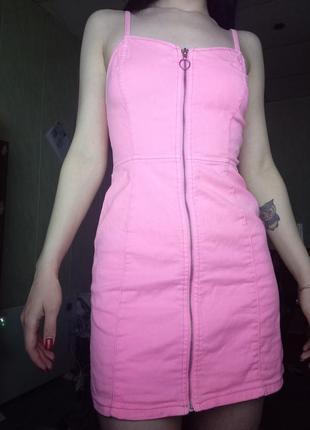 Супер джинсовое платье на змейке