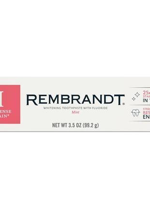Отбеливающая зубная паста rembrandt intense stain, mint