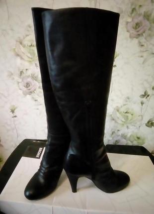 Кожаные сапоги bronx 40 размера