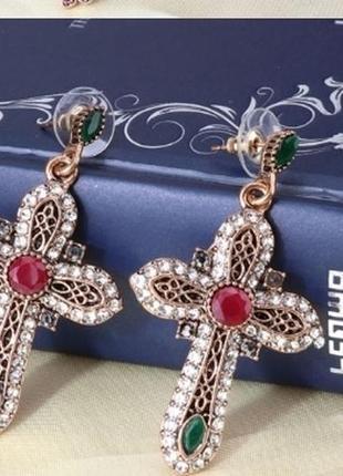 Серьги кресты в стиле gucci !!!
