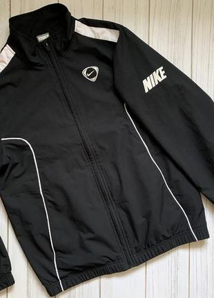 Ветровка куртка мастерка реглан спортивный чёрный белый найк nike